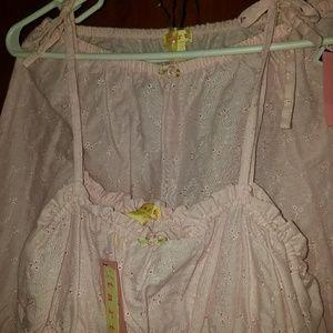NWT Pink Pointelle pajamas set